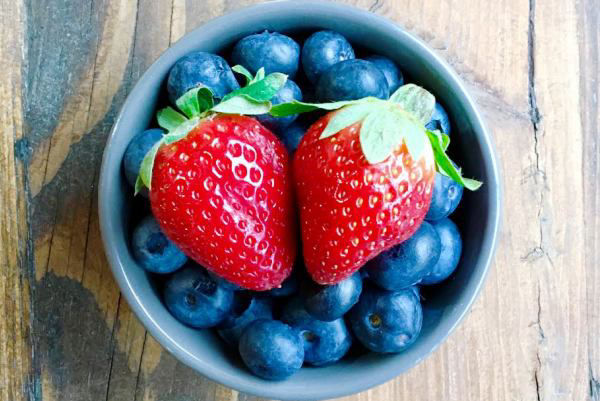 Blue berries and Strawberries