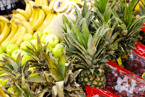 Fresh Pineapples and Grapes Local Organic